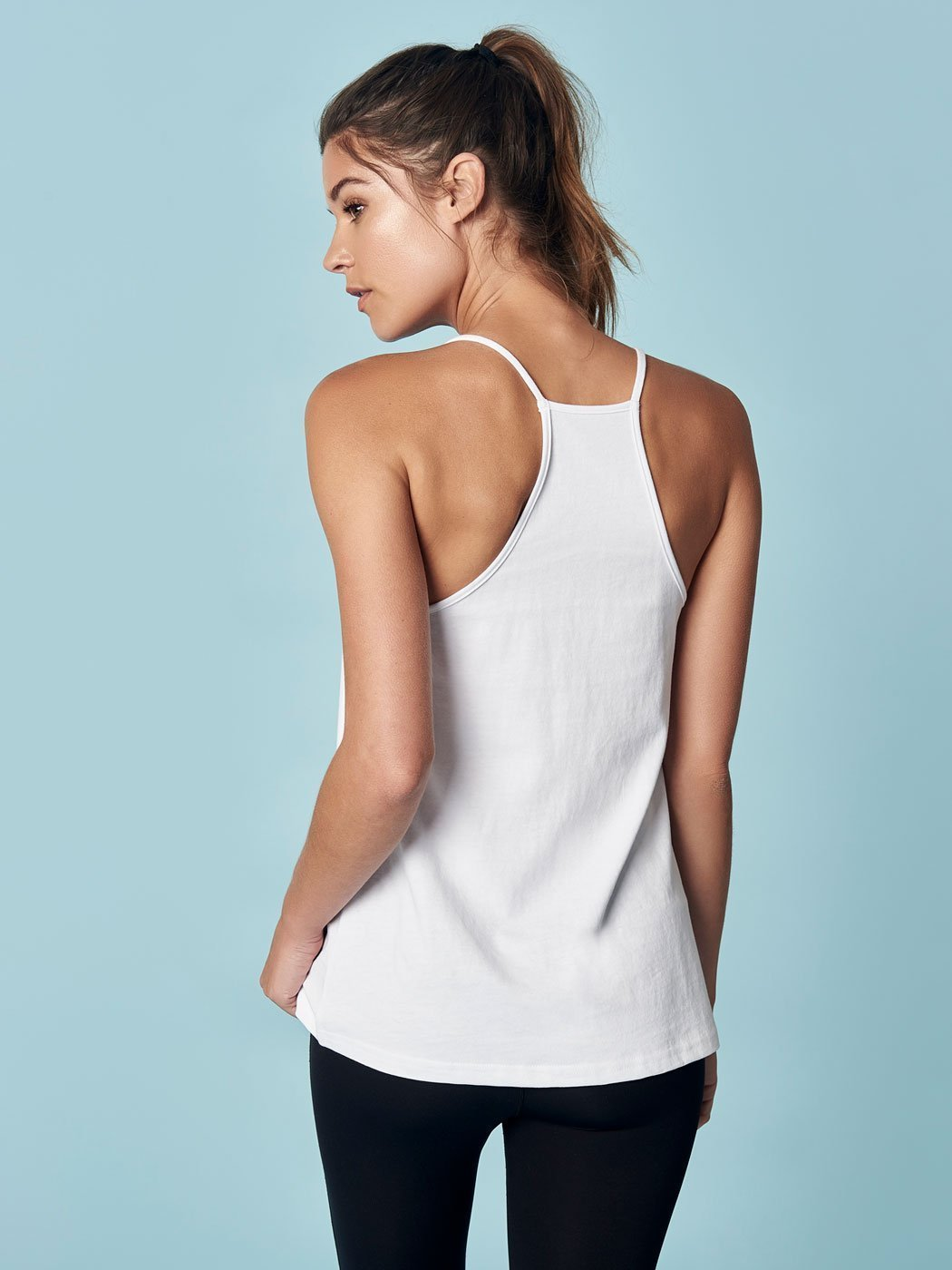 All Hours Racerback Tank White, Final Sale