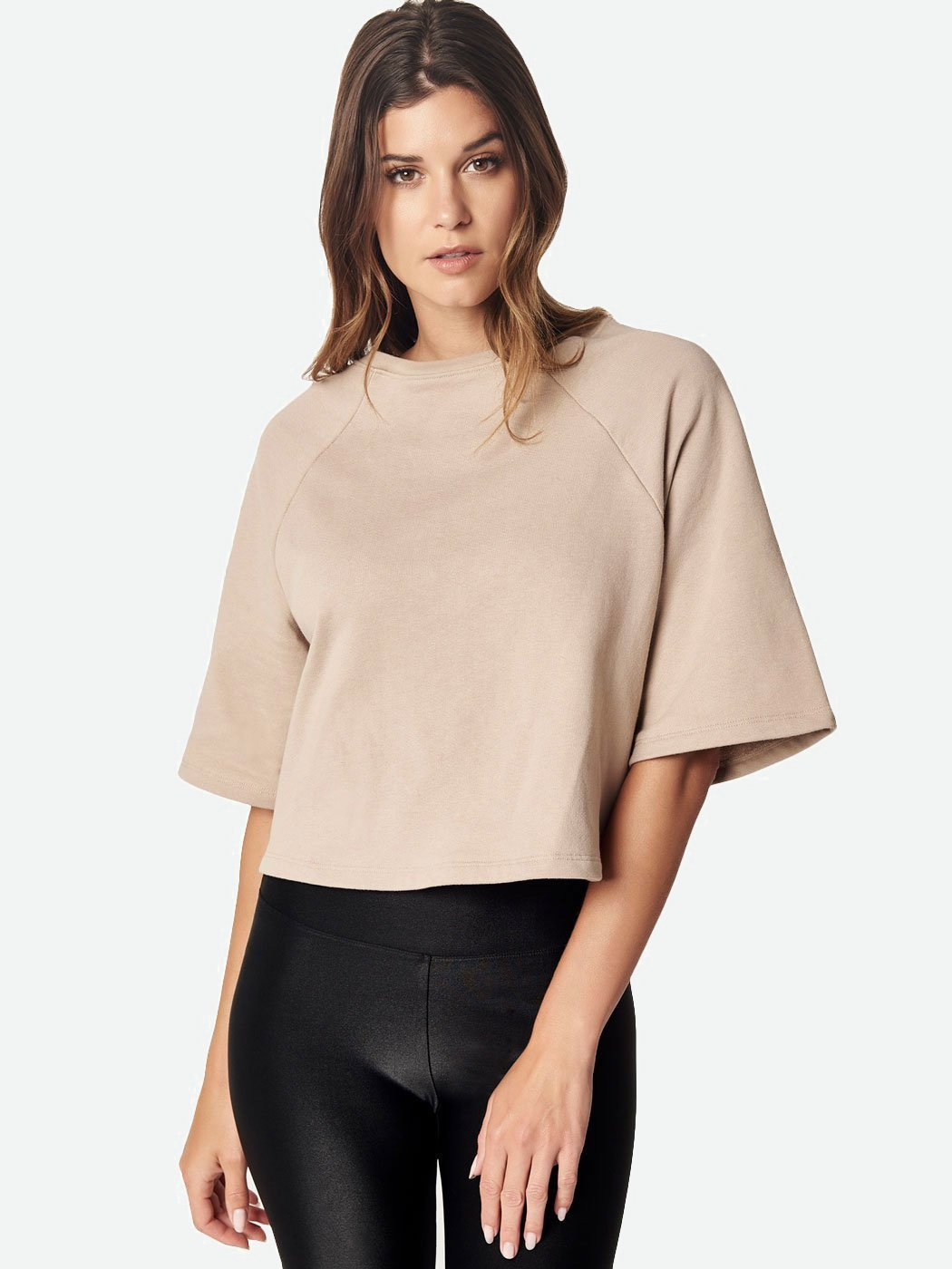 Off Duty Boxy Sweatshirt Fawn, Final Sale