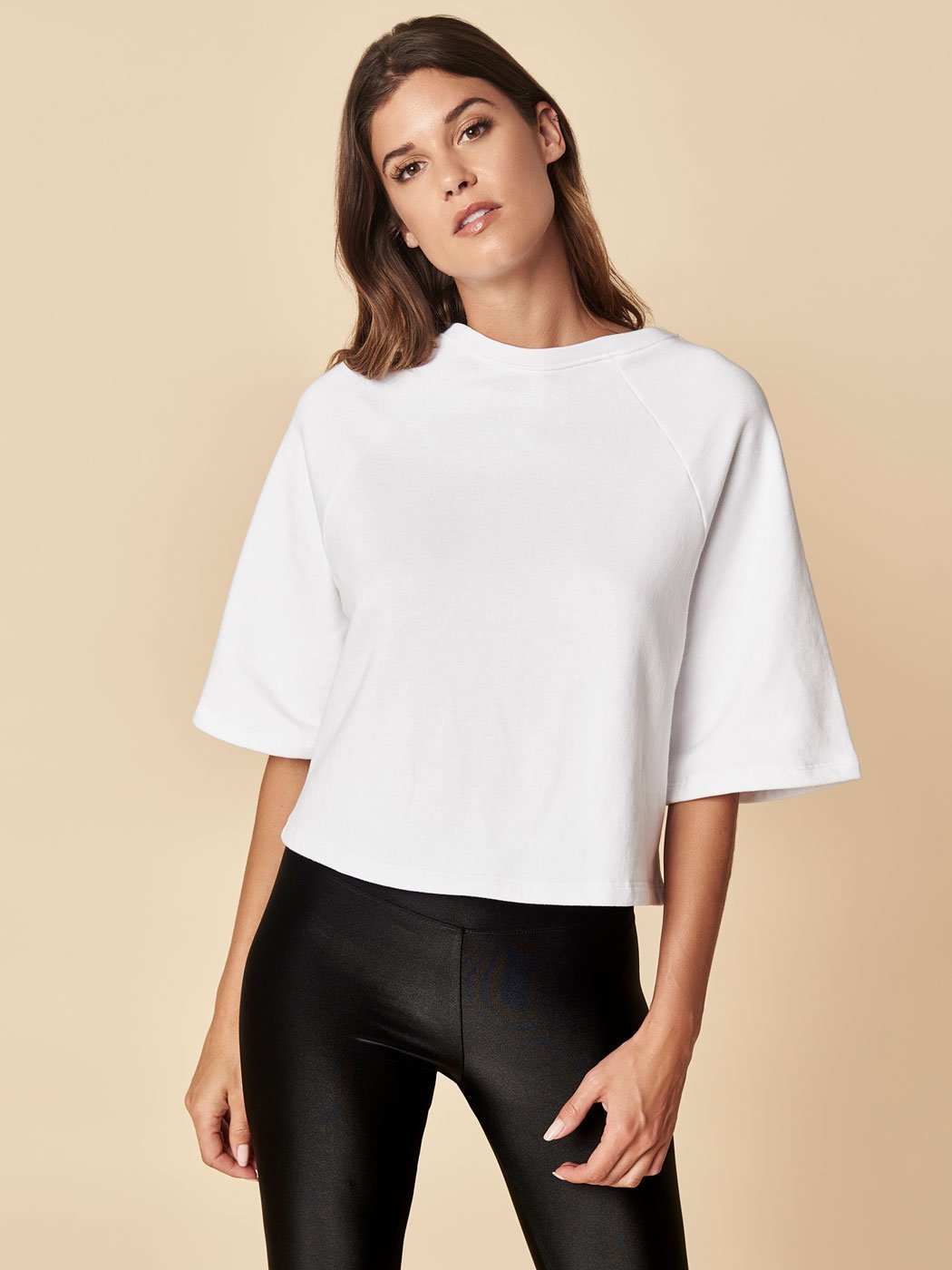 Off Duty Boxy Sweatshirt White, Final Sale