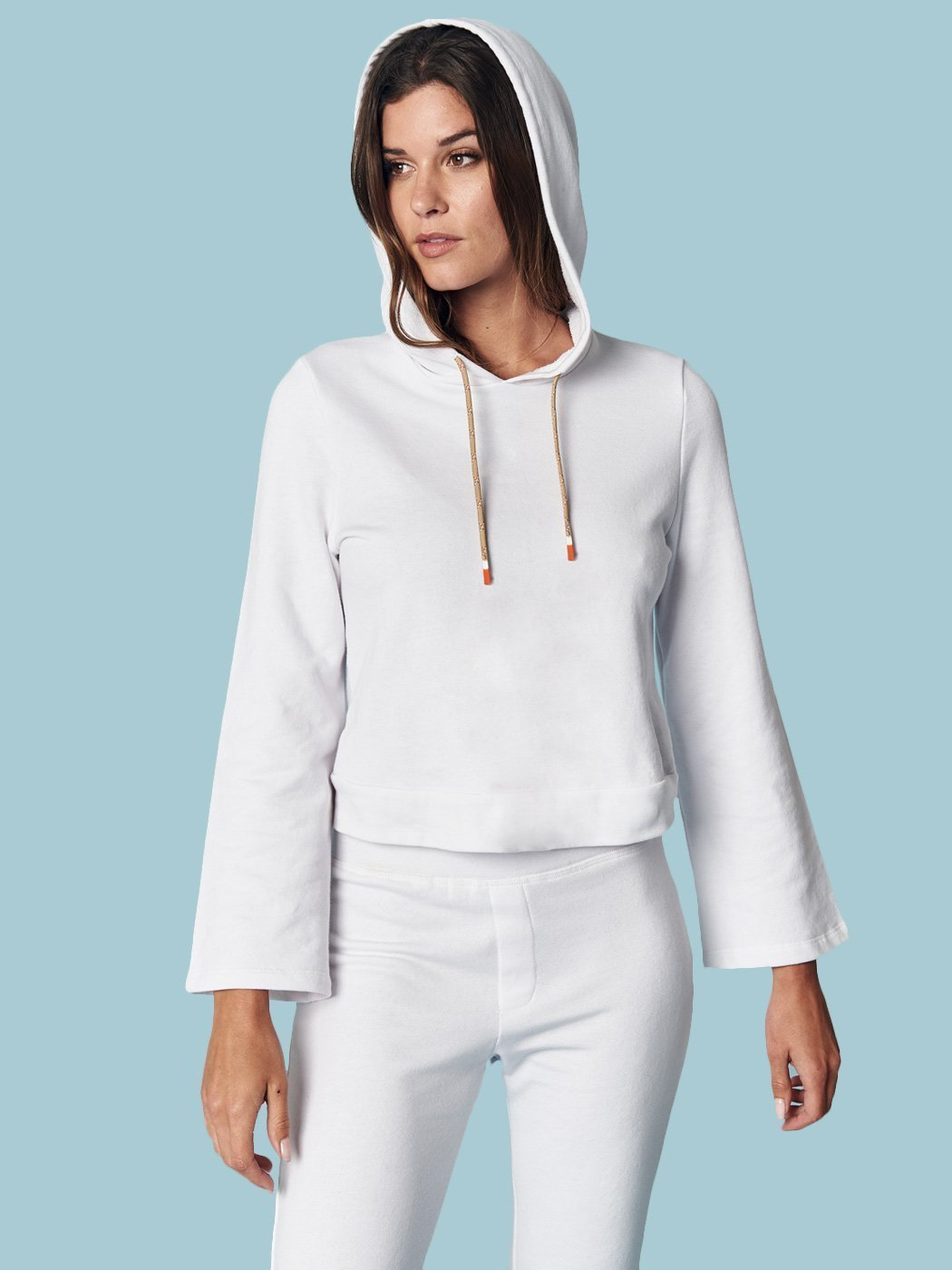 Off Duty Pullover Hoodie White, Final Sale