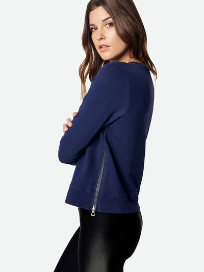 ENSMBL Tops Off Duty Side-Zip Sweatshirt, Navy Navy / XS / ENST50022
