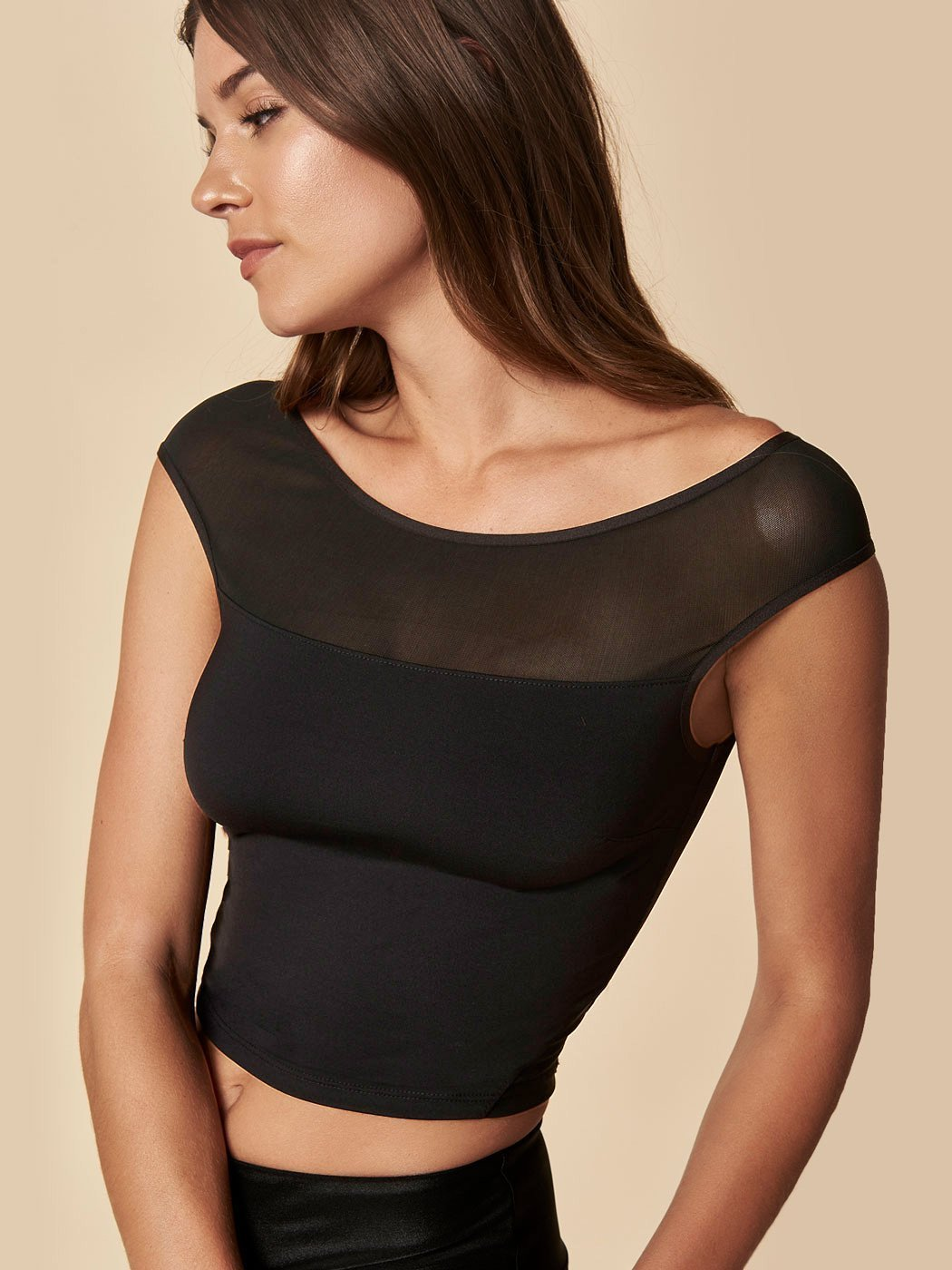 ENSMBL Tops Spinoff Mesh Top Black / XS / ENST14251