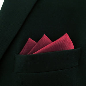 Solid Red Pocket Square - Tom's Tie Shop
