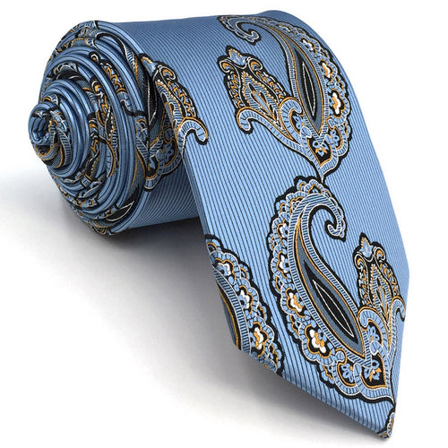 Paisley Blue & Black Tie - Tom's Tie Shop