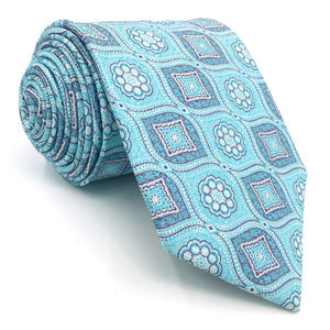 Patterned Azure Tie - Tom's Tie Shop