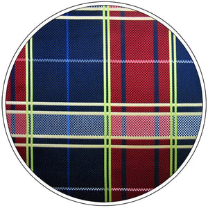 Checkered Red & Blue Pocket Square - Tom's Tie Shop