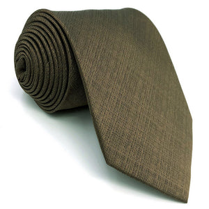 Solid Brown Tie - Tom's Tie Shop