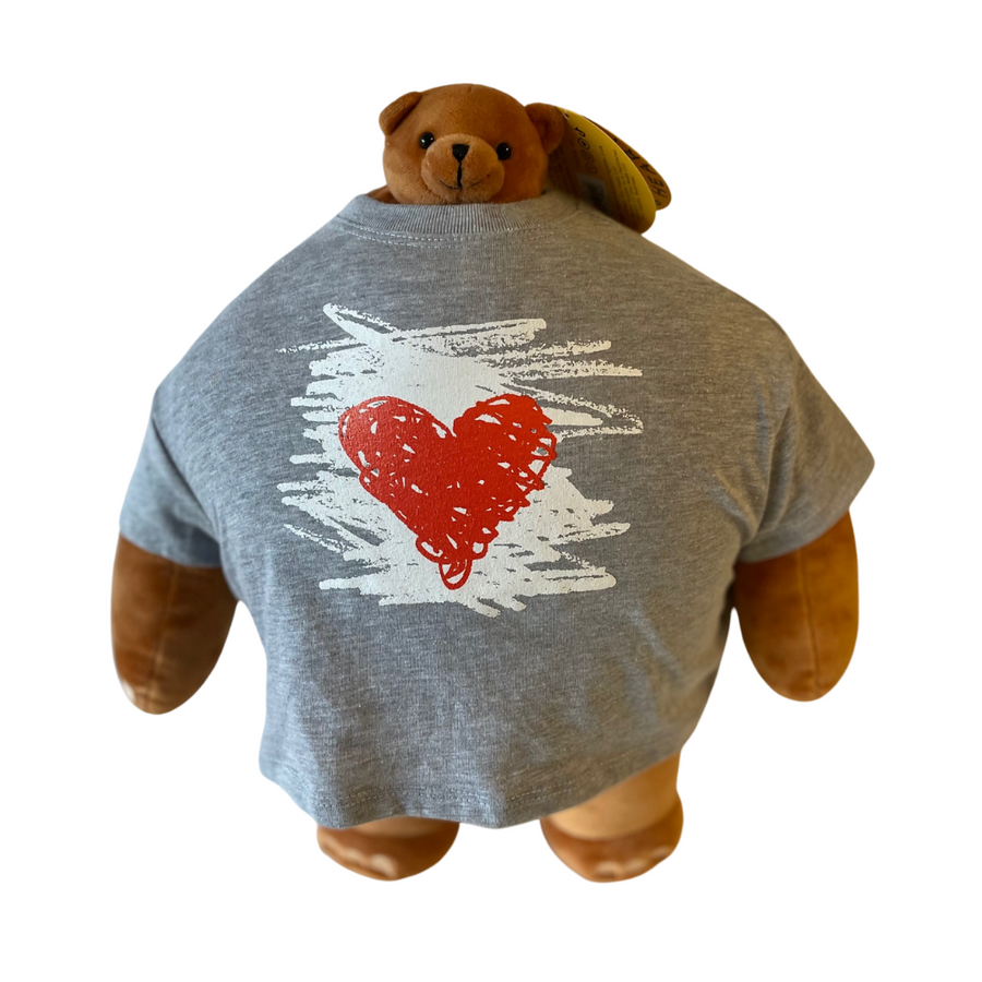 "Heart Doodle Plushie Tee (15"")"