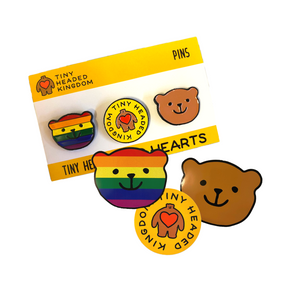 Pip Pride Sticker + Pin Set