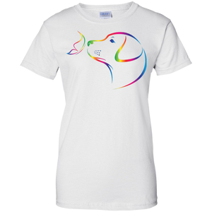 Rainbow Butterfly Golden Retriever Tee