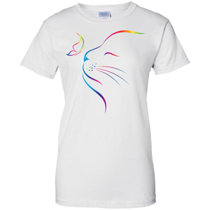 Rainbow Butterfly Cat Tee