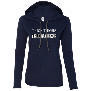 Thick Thighs Thin Patience Ladies Hoodie