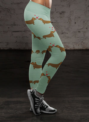 Love Dachshund Leggings