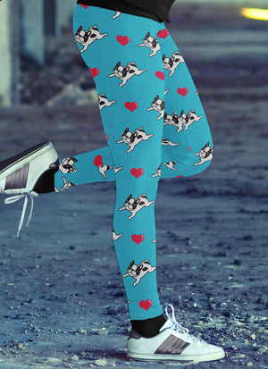 French Bulldog Love Leggings