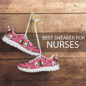 NURSE DOODLE SNEAKERS - PINK EDITION