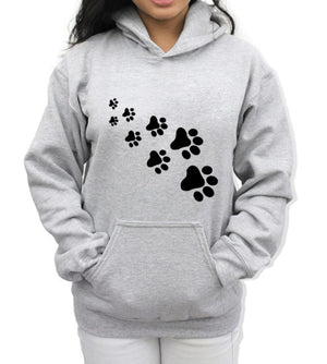 CAT PAWS Print Streetwear Fleece Hoodies