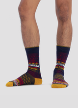 Load image into Gallery viewer, Greater 2gether Dark Blue Embroidered Socks
