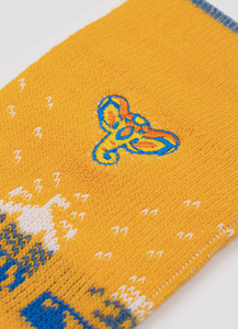 Greater 2gether Yellow Embroidered Socks