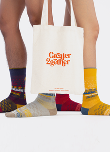 Greater 2gether 4 in 1 Embroidered Socks Gift Set
