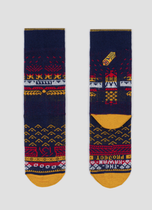 Greater 2gether Dark Blue Embroidered Socks