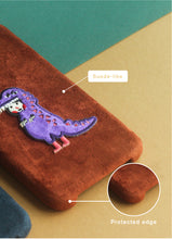 Load image into Gallery viewer, Purple Dragon Suede Phonecase