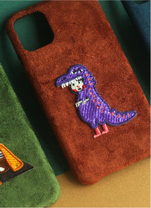 Purple Dragon Suede Phonecase