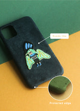 Load image into Gallery viewer, Flying Wizard Suede Phonecase
