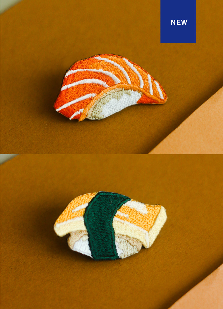 Sushi Set Embroidery Pin
