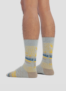 Greater 2gether Light Grey Embroidered Socks