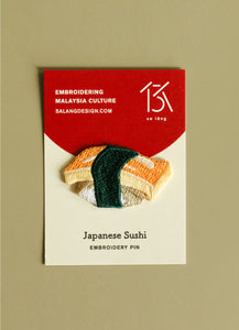 Tamago Sushi Embroidery Pin
