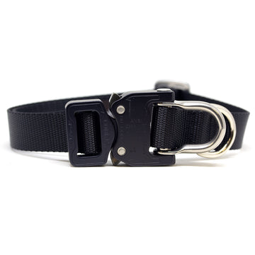 Cobra D-Ring Collar Black - Alpinhound Pet Co.