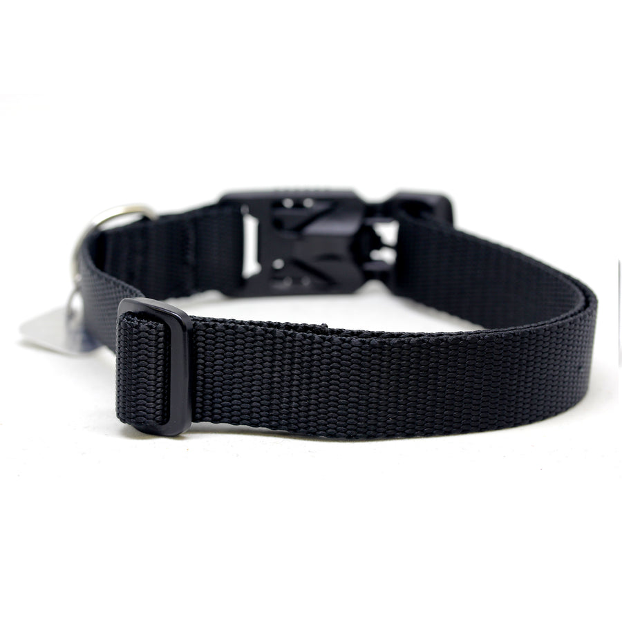 All Black Dog Collar with Fidlock® Magnetic Buckle - Alpinhound Pet Co.