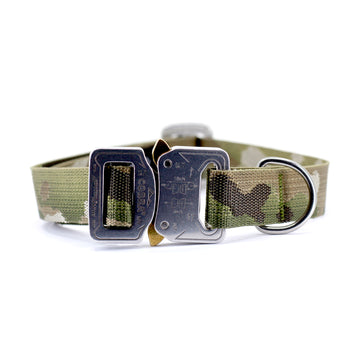 Jacquard Multicam Dog Collar with Cobra Buckle - Alpinhound Pet Co.