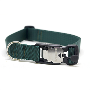 Forest Green Dog Collar with Fidlock® Magnetic Buckle - Alpinhound Pet Co.