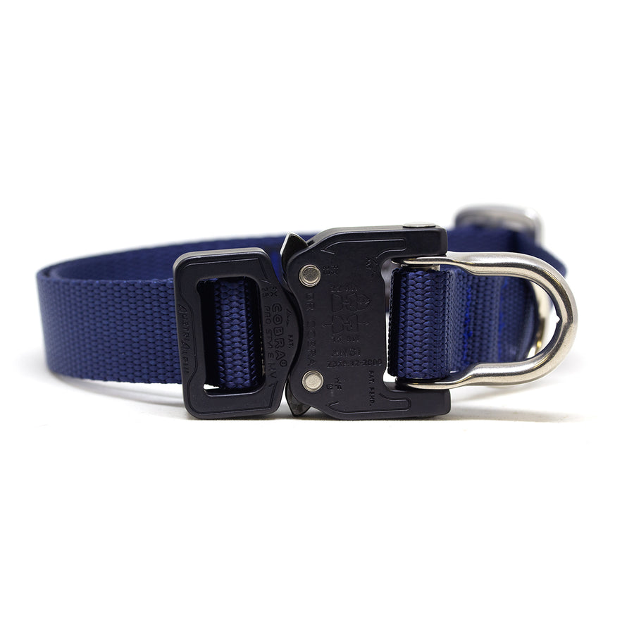 Cobra D-Ring Collar Navy - Alpinhound Pet Co.
