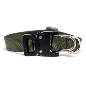 Cobra D-Ring Collar Olive Drab - Alpinhound Pet Co.