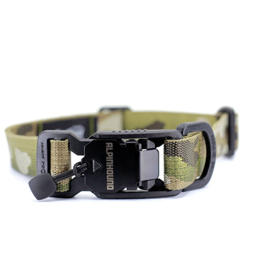 Jacquard Multicam Dog Collar with Fidlock Magnetic Buckle - Alpinhound Pet Co.