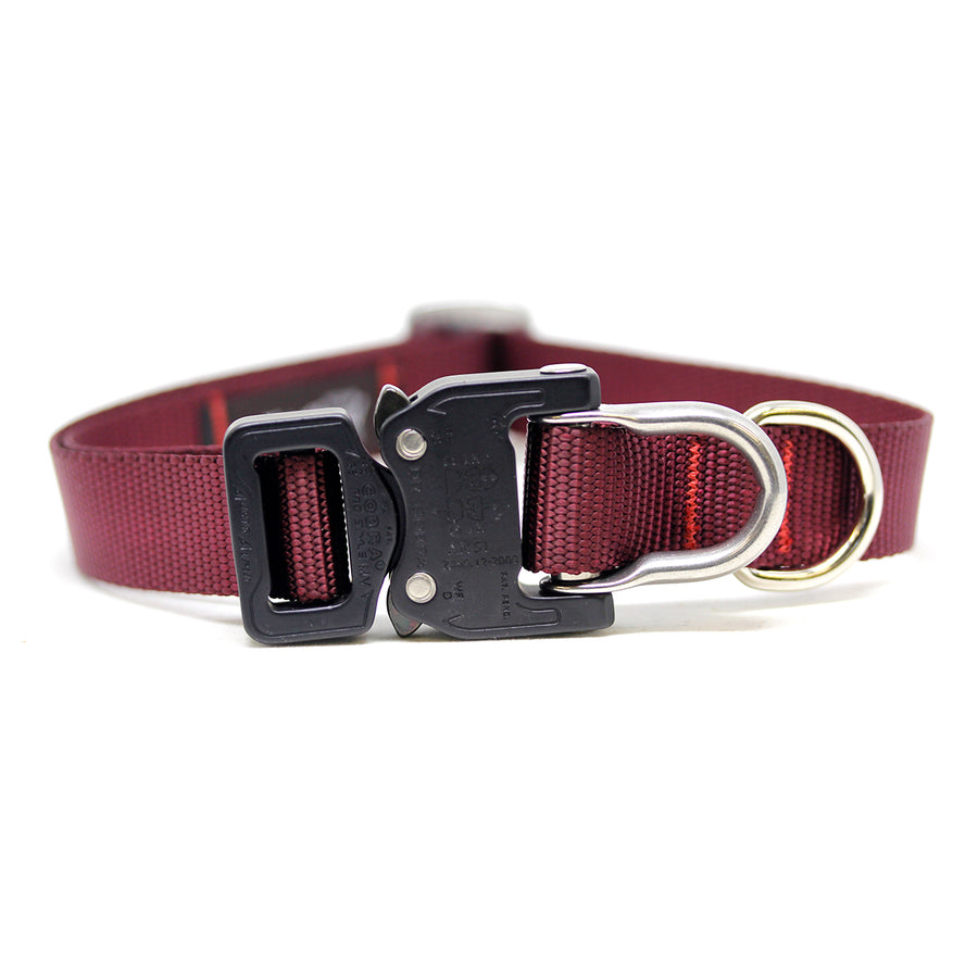 Cobra D-Ring Collar Oxblood - Alpinhound Pet Co.