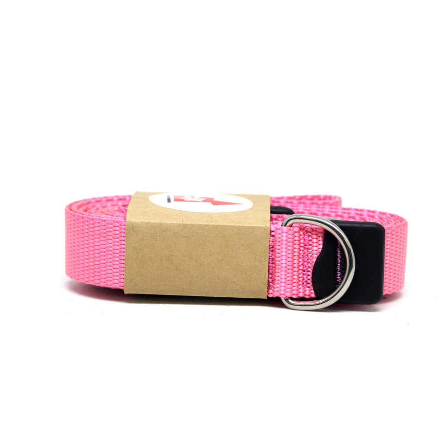 Pink Dog Leash with Stainless Steel Snaphook and D-Ring - Alpinhound Pet Co.