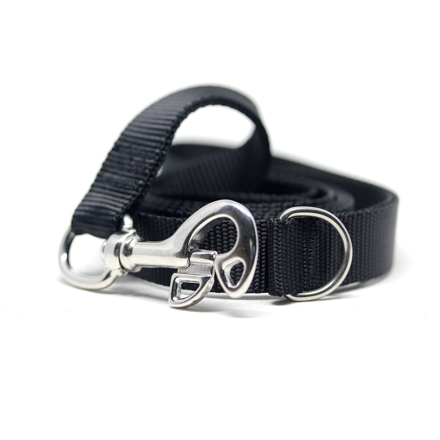 Leash with Stainless Steel Divers Snaphook and D-Ring - Alpinhound Pet Co.