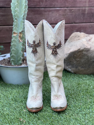 Vtg Zodiac feather EAGLE tall boots - size 8