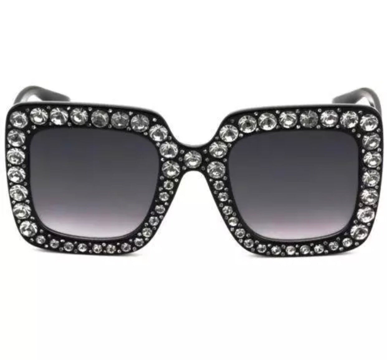 Copy of Rhinestone square sunglasses - 4 colors