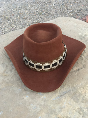Customized Brown Western Hat Size 7