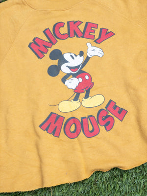 Cropped yellow Mickey Mouse Sweatshirt
