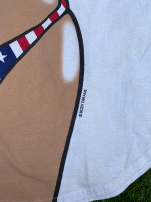 Bikini T-Shirt American flag USA Cover Up