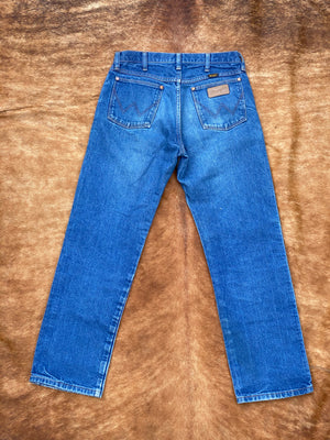 Wrangler gold leather chap jeans