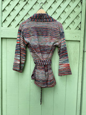 Missoni style wrap sweater