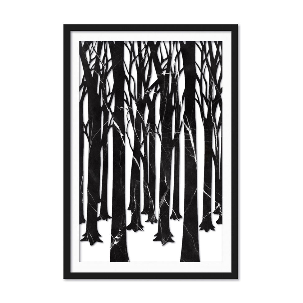 Winter Dark Forest