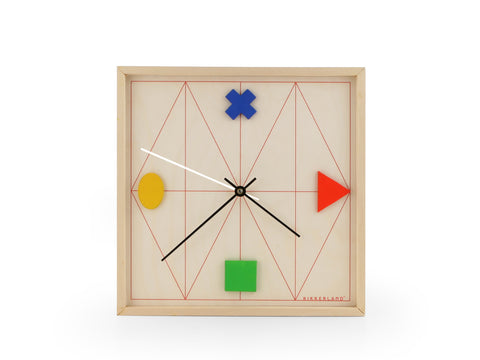 Geometric Wood Clock