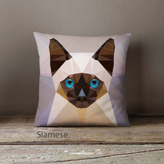 Geometric Cat Pillowcases
